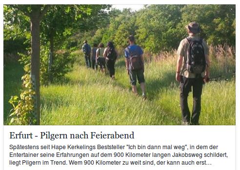 08.07.2016 Deutschlandfunk berichtet über das Feierabendpilgern